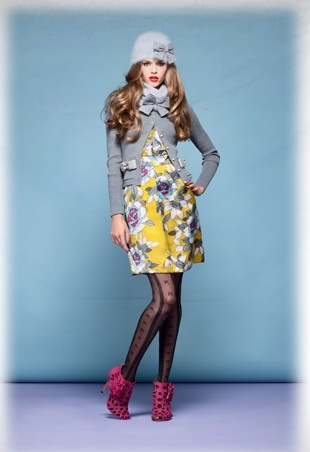 Alannah Hill - love that blue & yellow together