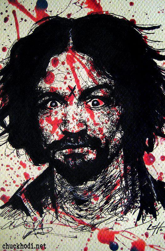 Charles Manson Serial Killer Dark Art by chuckhodi