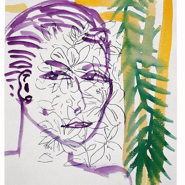 #stefanszczesny #eva#watercolor #paper #1995 #stlucia #artwork #art#modernart #contemporaryart #drawing #