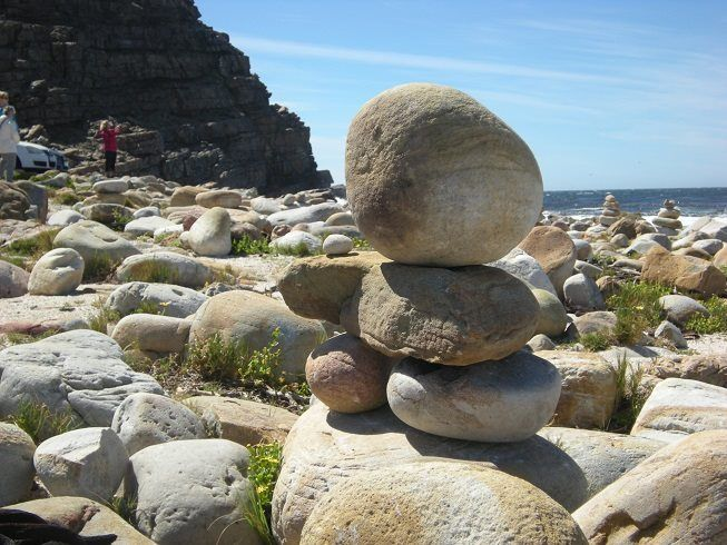 inunnguaq (sometimes called an Inukshuk) perhaps the only one at Cape Point, South Africa