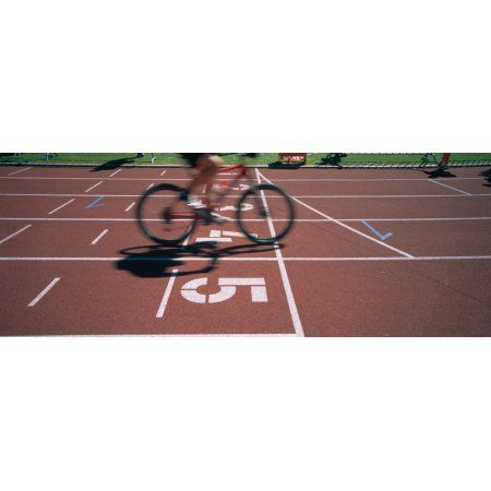 Low section view of a man cycling on sports track Kirchzarten Germany Canvas Art - Panoramic Images (27 x 9)