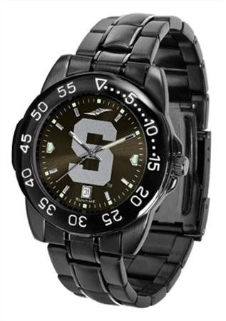Michigan State Spartans MSU NCAA Mens Fantom Gunmetal Sports Watch by SunTime. Save 21 Off!. $70.95. Scratch-resistant mineral glass crystal. Color-coordinated linked steel band. AnoChrome dial. Durable, solid metal alloy case with gunmetal finish. Quartz-accurate movement. Introducing the Fantom Sport the newest addition to our legendary line of Suntime Sport watches. The Fantom boasts a bold but not in-your-face image of your favorite school logo in metallic silver on a black Ano-chrome...