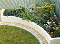raised corner flower bed