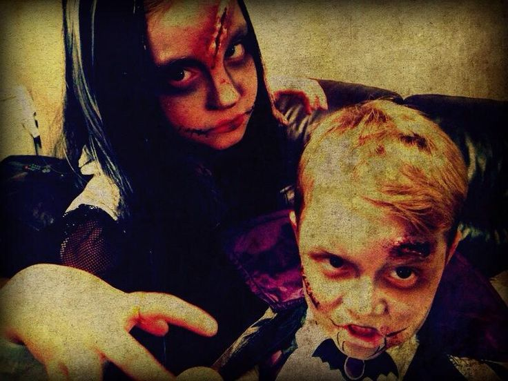 Halloween makeup my scary kids ha