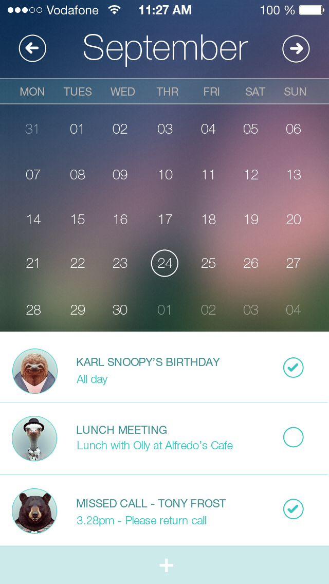 Calendar App - by Al Power | #ui