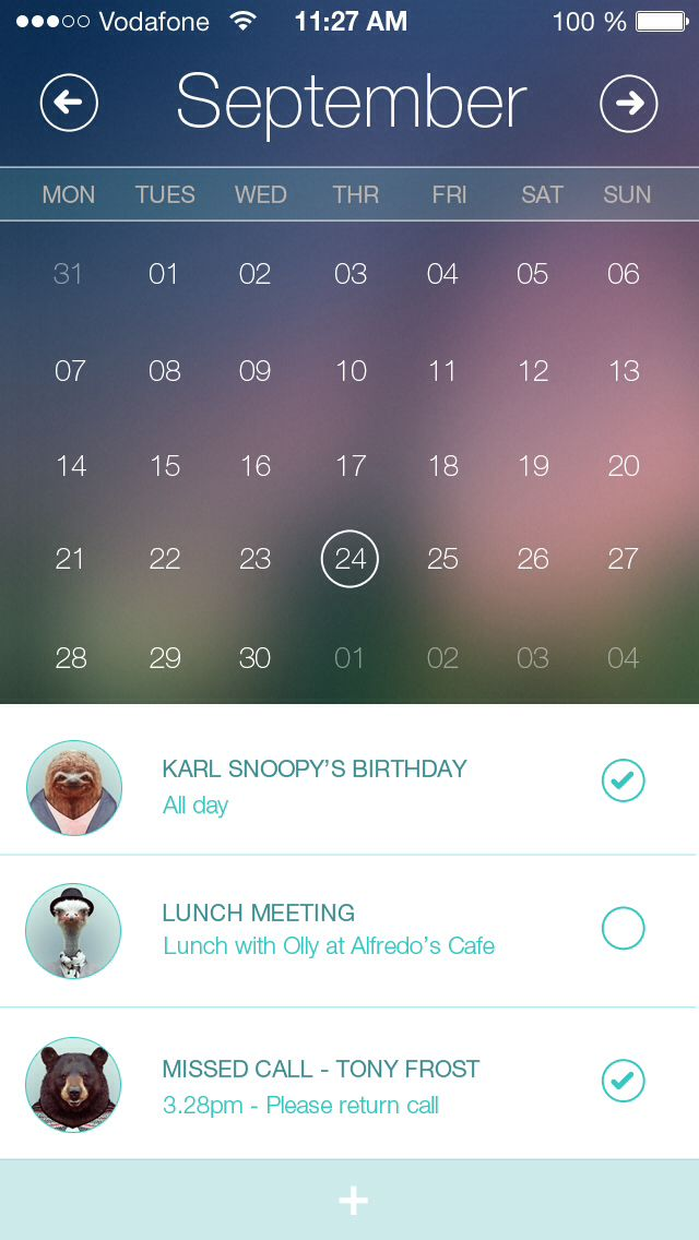 Calendar App - by Al Power | #ui