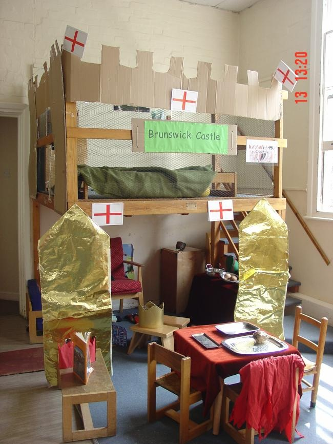 Castle for dramatic play