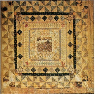"Penn's Treaty Quilt  Attributed to Martha Washington, estimated date 1785.  Collection of Mount Vernon Ladies Associaton  101"" square"