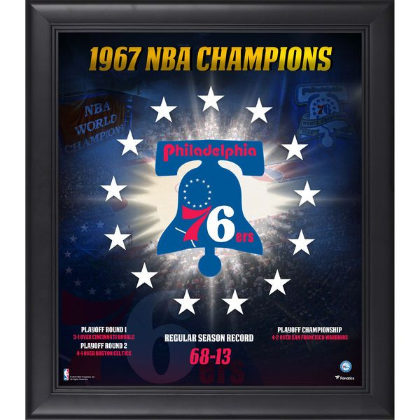 "Philadelphia 76ers Fanatics Authentic Framed 15"" x 17"" 1966-1967 NBA Champions Collage - $49.99"
