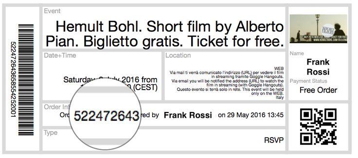 ITA. Il 2 luglio potrai guardare, in streaming gratuito mondiale, il cortometraggio Hemult Bohl, di Alberto Pian. I biglietti gratuiti si ritirano qui: https://hemultbohl.eventbrite.it  . Con i biglietti puoi partecipare al gioco per vincere degli eBook: https://www.facebook.com/hemult.bohl/posts/153063168442479?pnref=story  ENG. On July 2, you can watch the short film Hemult Bohl, of Alberto Pian, in Streaming Web for Free. Get your ticket here: https://hemultbohl.eventbrite.it . With…