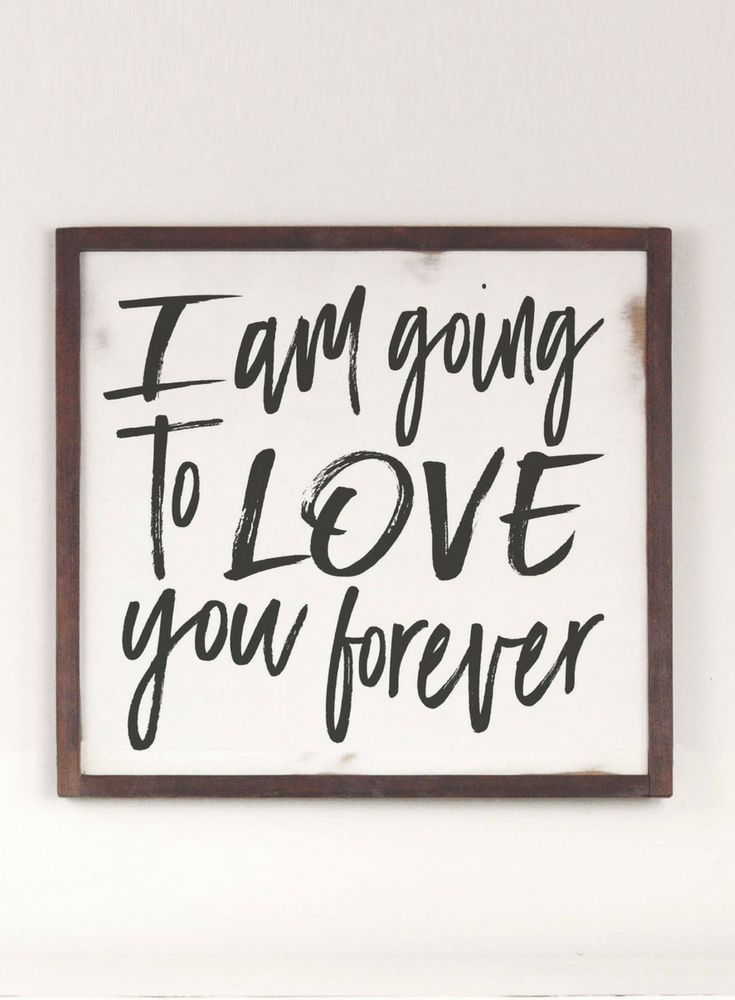 Perfect for a nursery or even a wedding! I am going to love you forever sign, Farmhouse Wood Sign, Love You Forever, Rustic Wood Sign, Wood Framed Sign, Wedding Sign, Nursery Decor, Farmhouse Nursery sign, Baby Room Decor, Farmhouse decor, Rustic decor, Home decor #ad