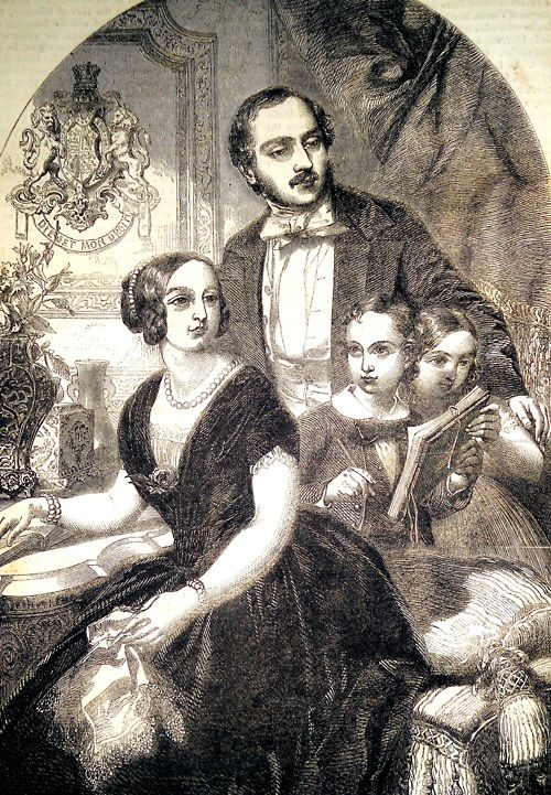 """""""Queen Victoria and her family.  The Illustrated Exhibitor and Magazine of Art, vol. 1, 1852."""""""
