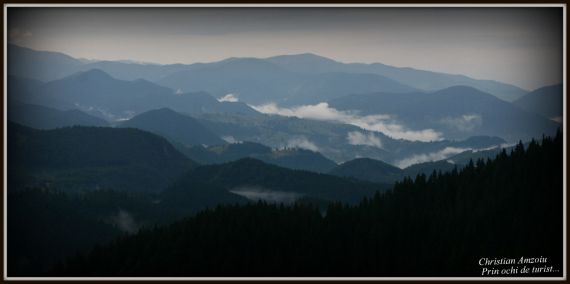 Amazing view from the Piatra Craiului Mountains...