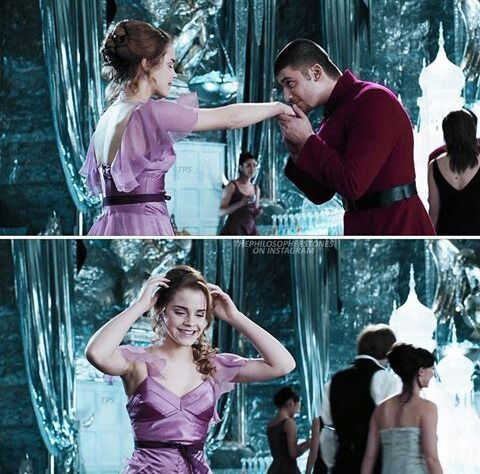 Imagen de Dream big Hermione, princess, lovely, Victor Krum, dance, Harry Potter and potterhead