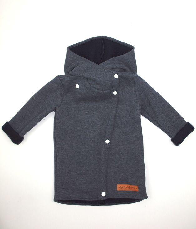 Płaszcz dziecięcy jesienny jeansowy - Bubalove - Ubranka dla dzieci