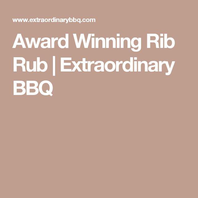 Award Winning Rib Rub | Extraordinary BBQ