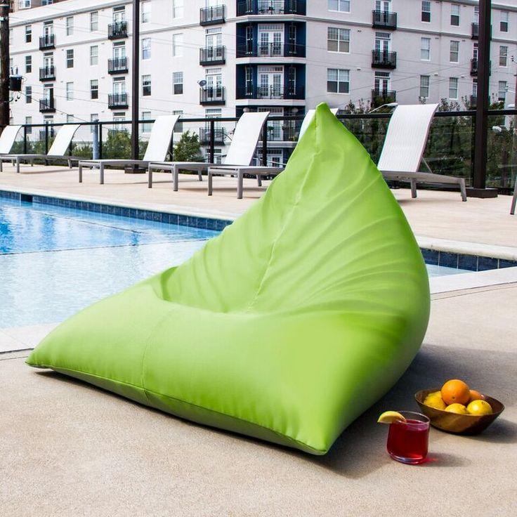 Jaxx Twist Outdoor Bean Bag Chair - Lime Green