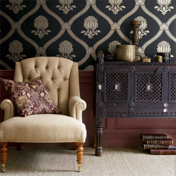 Bold and Opulent - Granada Wallpaper from the Morris V Wallpapers Collection, now online at British Wallpapers: http://www.britishwallpapers.co.uk/morris-v-wallpapers/