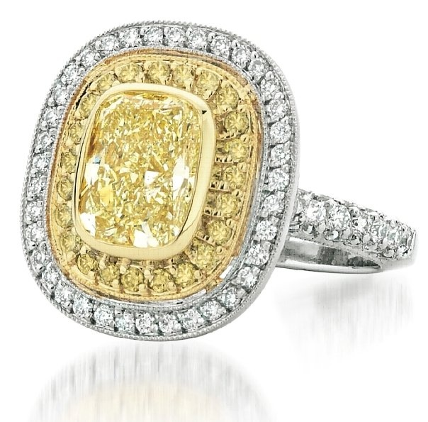 Yellow Canary Diamond Engagement Ring available at Houston Jewelry!