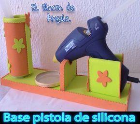 Trabajar con tu pistola de silicona caliente será mucho más fácil si tienes esta base de goma eva.