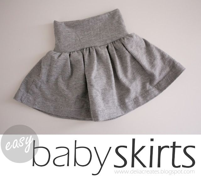 delia creates: Nesting: Easy Baby Skirts Baby girl free tutorial- turn an adult shirt into a skirt!