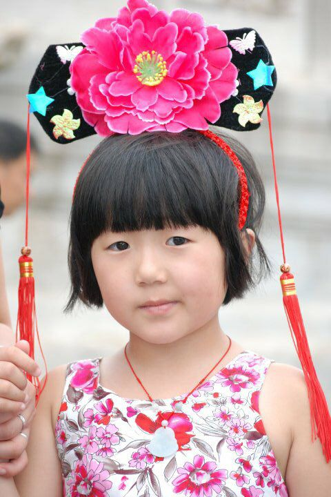 Chinese little girl at Forbidden City, Beijing