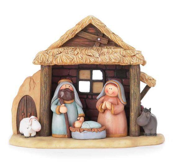 "1 Piece Children's Nativity   Holy Family   Stable   Animals   5-3/4"" - F.C. Ziegler Company"