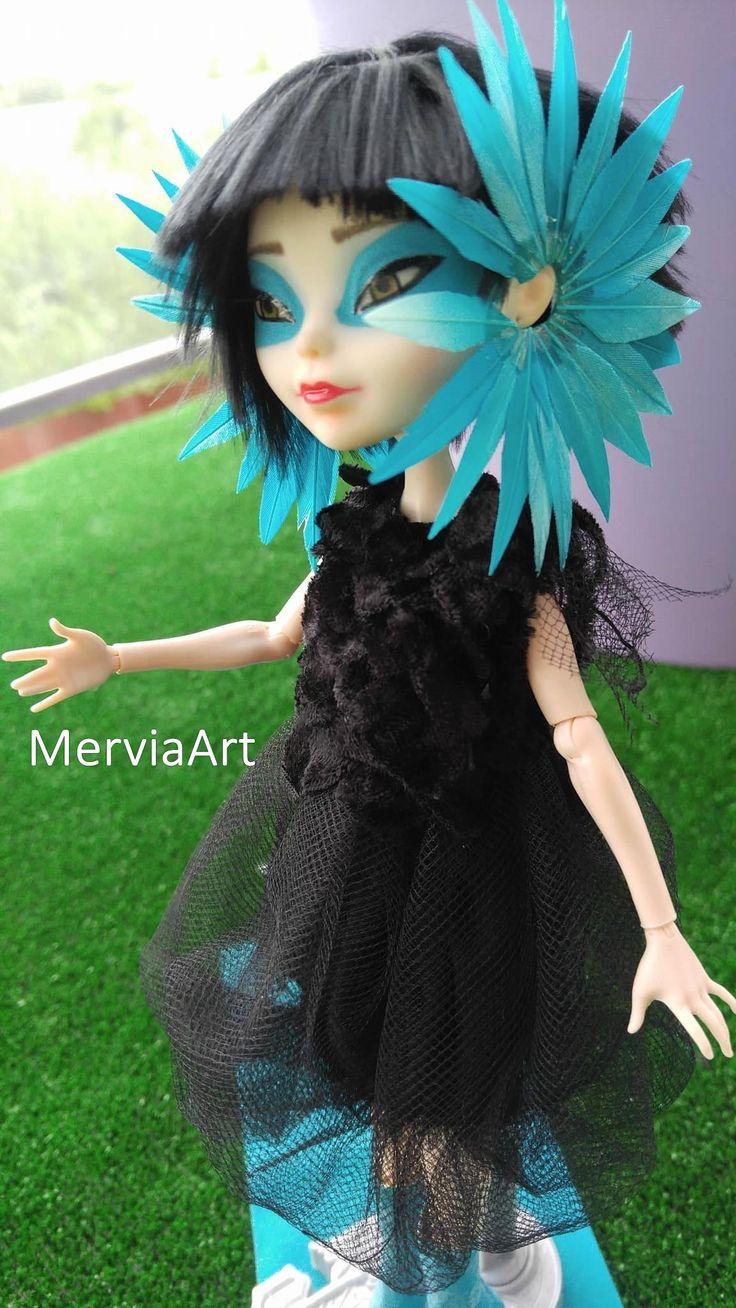 Art doll , Ooak Björk Greatest Hits Doll by MerviaArt (Alexander McQueen earpiece) by MerviaArt on Etsy