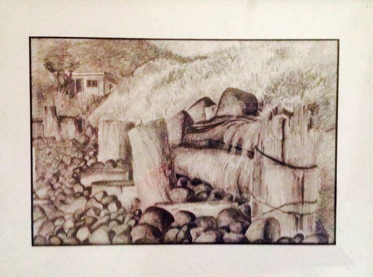 Pencil  artwork of Onaero, Taranaki. I did this when I was 15.