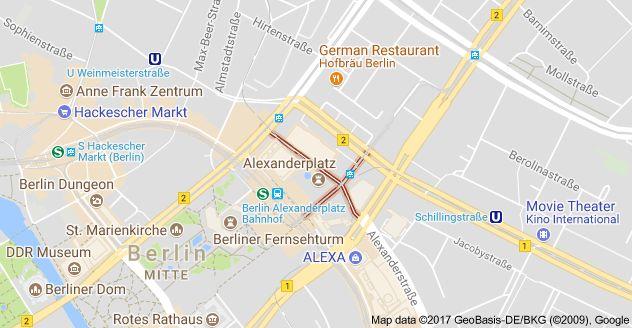 Map of Alexanderpl., 10178 Berlin