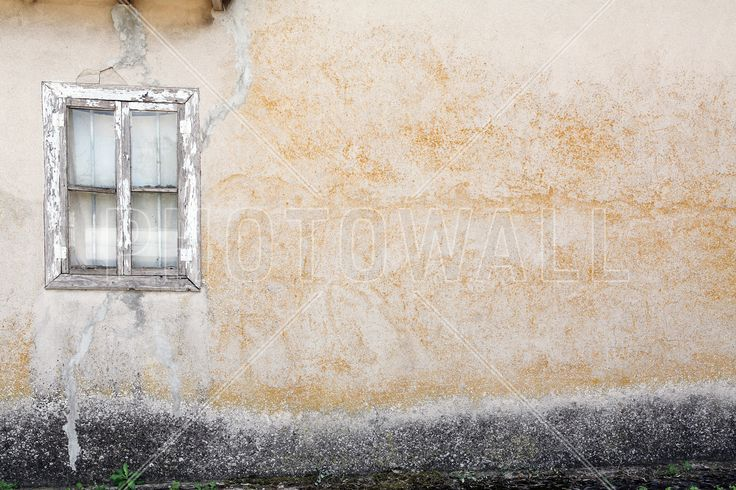 Old Wall with Wooden Window - Tapetit / tapetti - Photowall