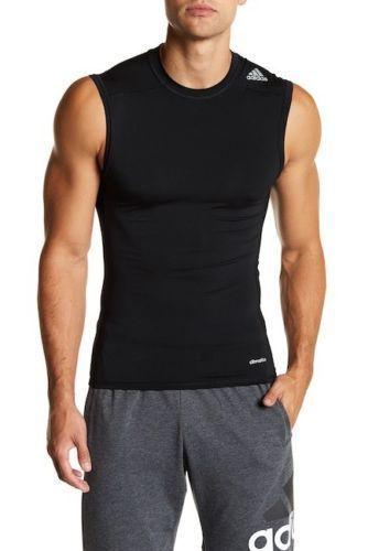 b90300992ca87 Adidas Men s Size XL Techfit Compression Climalite Black Sleeveless Shirt  NWT  adidas  ShirtsTops