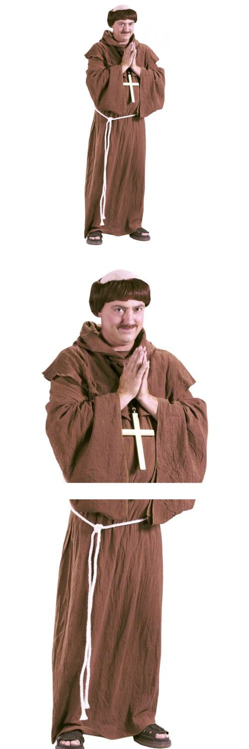 Men Costumes: Medieval Monk Costume Adult Friar Tuck Halloween Fancy Dress -> BUY IT NOW ONLY: $32.99 on eBay!