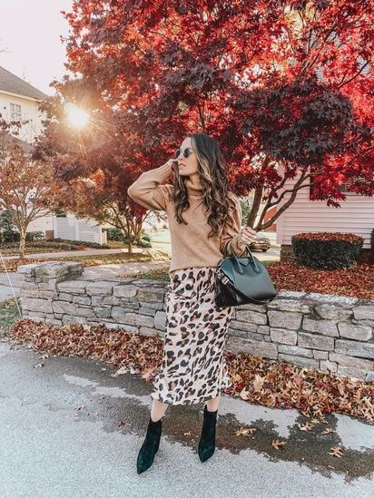 501b8a1ff931 Leopard print midi skirt #ShopStyle #shopthelook | Shop the look in ...
