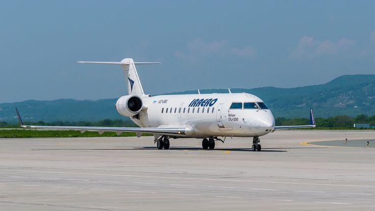 Full HD | Посадка Bombardier CRJ 200 IrAero. Мой первый день споттинга.