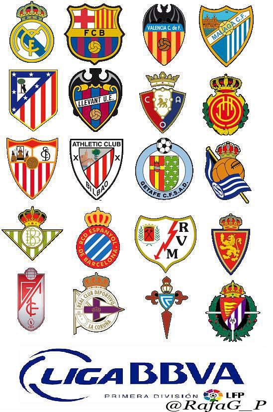 Dorsales Equipos Liga BBVA 2012-2013