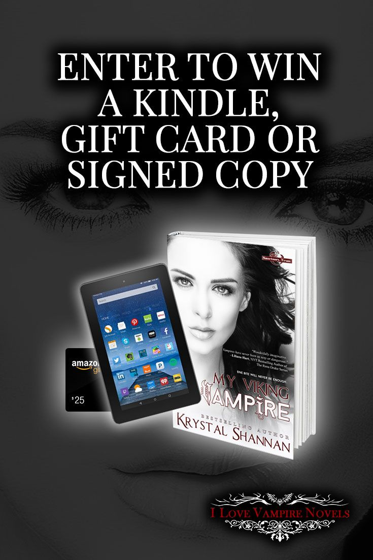 Win a Kindle, $25 Amazon Gift Card or Signed Copy from Bestselling Author Krystal Shannan  http://www.ilovevampirenovels.com/giveaways/krystal-shannan/?lucky=242323