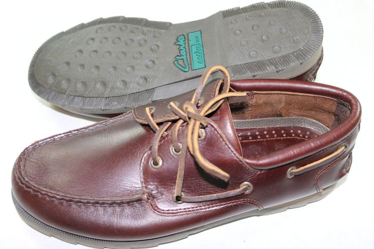 Mens Clarks Active Air Brown Leather Boat Shoes 11 M #Clarks #BoatShoes