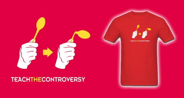 Spoon Bending t-shirt from Teach the Controversy
