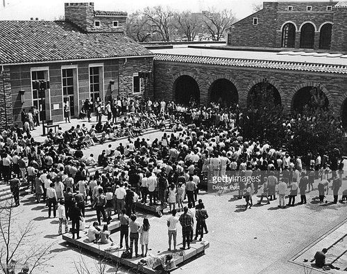 Student Memorial Center court at University of Colorado Boulder campus in 1969