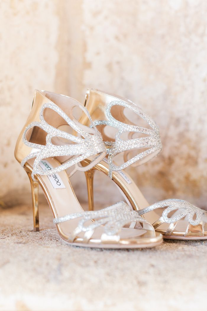 Photography : aceandwhim.com | Sparkly silver and gold Jimmy Choo |  | famood.com: