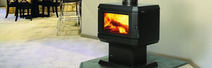 Regency Wood Heater: ALBANY MEDIUM WOOD FREESTANDING - The firebox is specially designed to maximize heat output and is fitted with a 2-speed fan for extra circulation. A single draft rod allows you to control your fire and deliver just the heat you want, when you want it. #Heating #WoodFire #Freestanding #Regency #HearthHouse