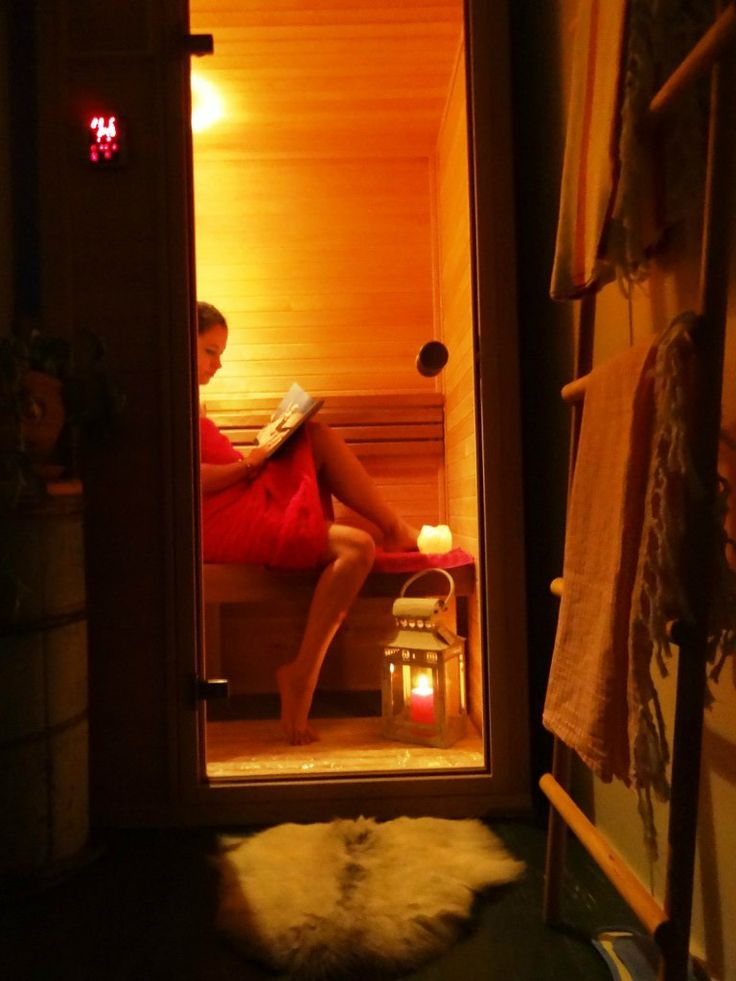 So warm and cozy atmosphere in infrared sauna. Have your own time in peace and quiet. www.saunalahja.fi