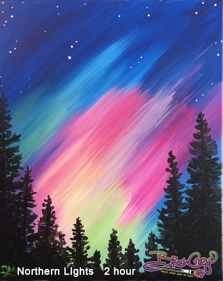Northern Lights Painting For Beginners 25 Best Ideas
