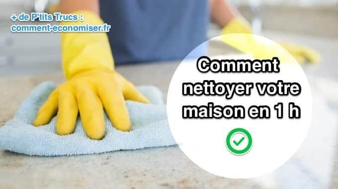 Vos invités arrivent dans 1 heure mais c'est le désordre dans votre maison ? Ou tout simplement, vous avez envie de tout nettoyer rapidement sans y passer 3 heures ? Ne vous inquiétez pas, voici...