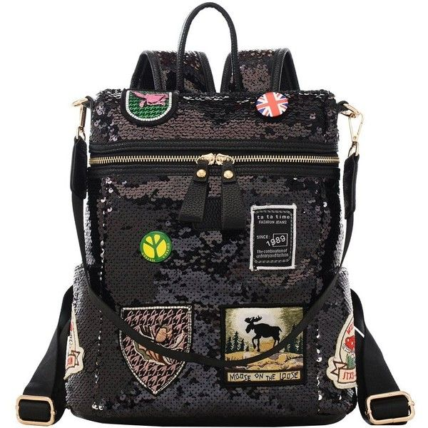 Amazon.com  Sequin Mini Backpack Purse for Women Cute Small Fashion Glitter  Leather Convertible Backpacks Purses Shoulder Bag for Teen Girls (Black)   ... a00e5154231d7