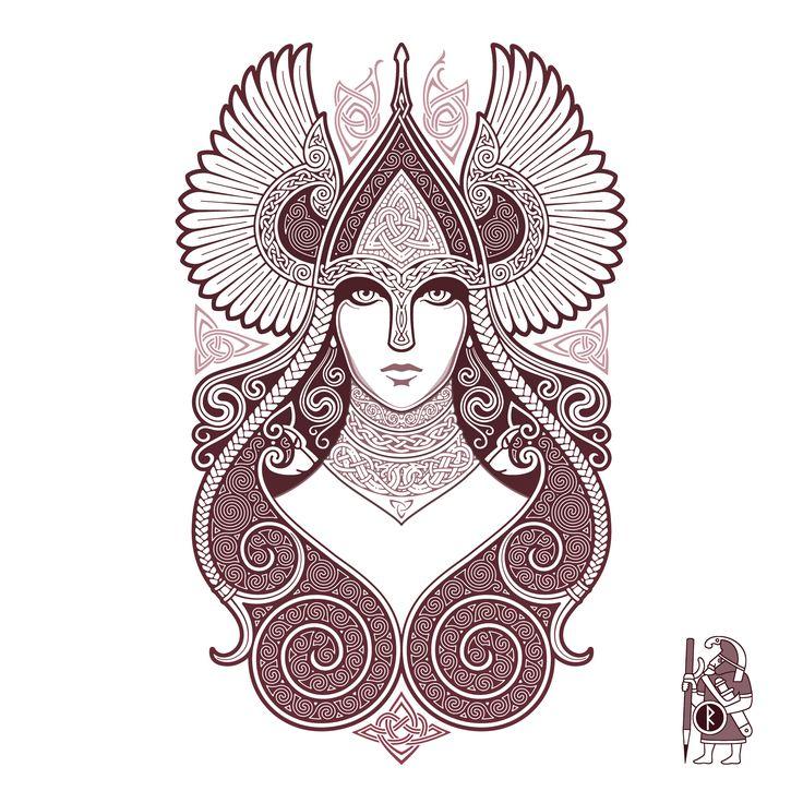 FREYJA Valkyrie Tattoo-Design by RAIDHO