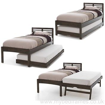 Esther dark hardwood guest bed - #bedroomdesign