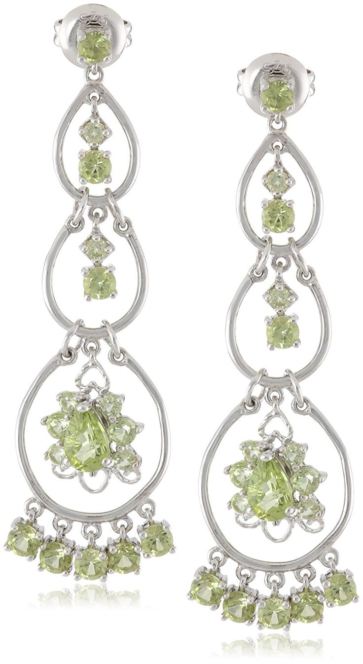 Sterling Silver Peridot Chandelier Drop Earrings ** Visit the image link more details. (This is an Amazon Affiliate link and I receive a commission for the sales)