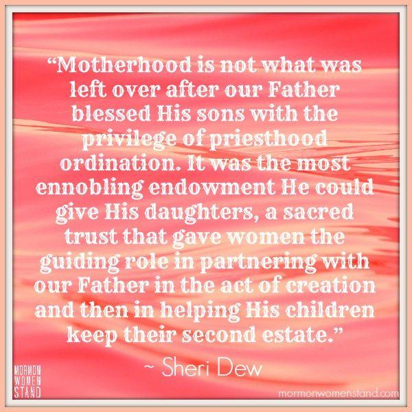 Mormon women inequality priesthood Sheri Dew